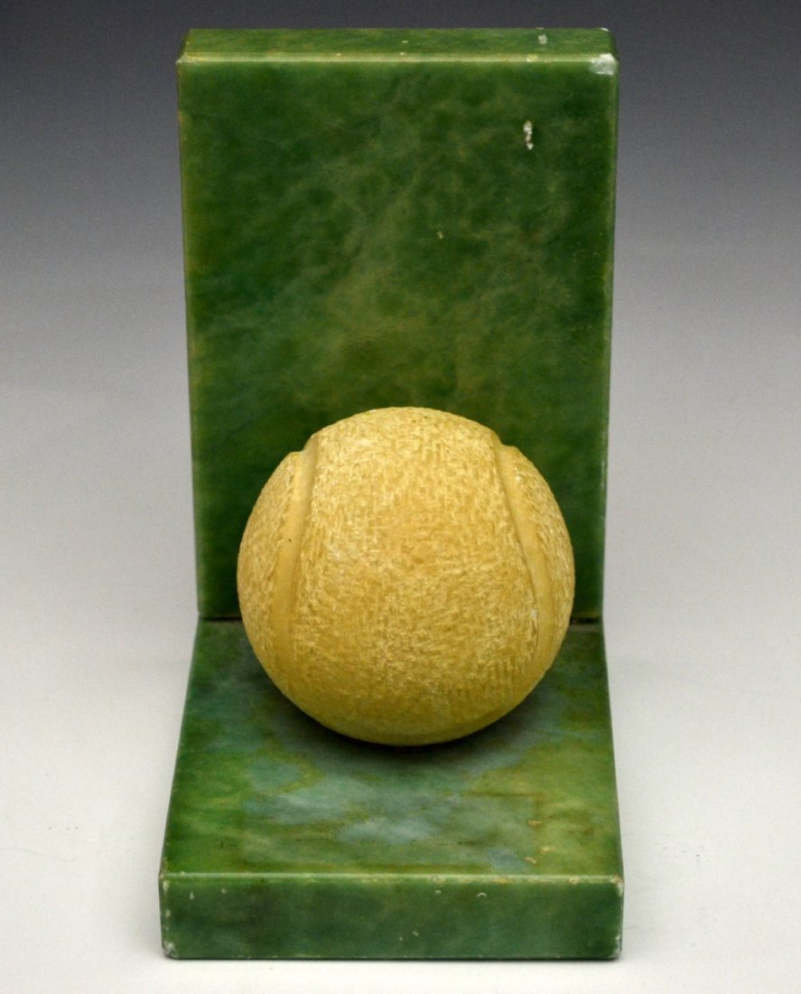 Bookend, Carved Tennis Ball, Alabaster