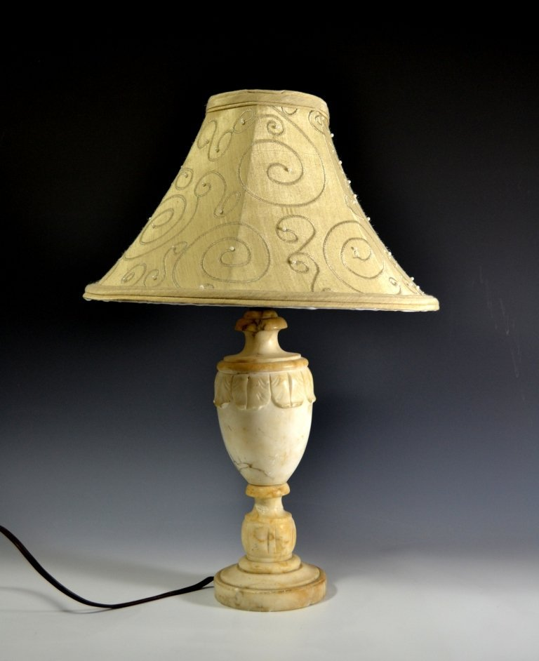 Lamp, Small, Alabaster