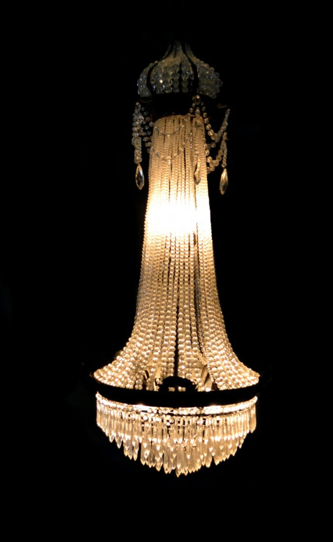 Crystal Chandelier, Early 20th Century