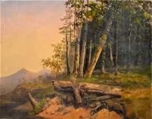 O/C Hudson River School Landscape, Unsigned