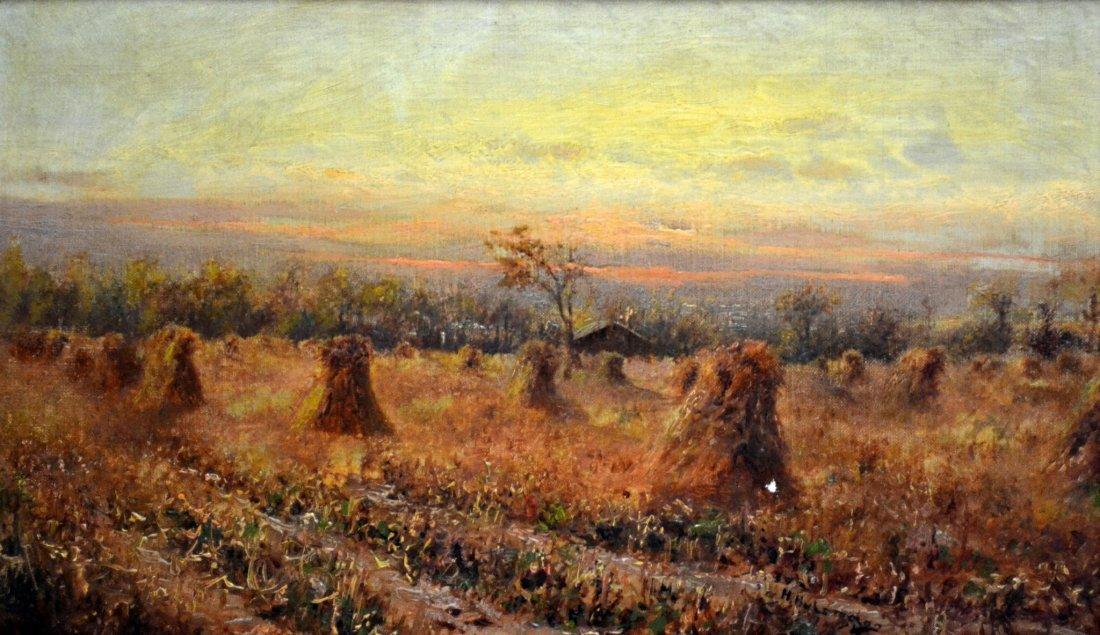 O/C 'Harvest Landscape' by Henry Hulsmann
