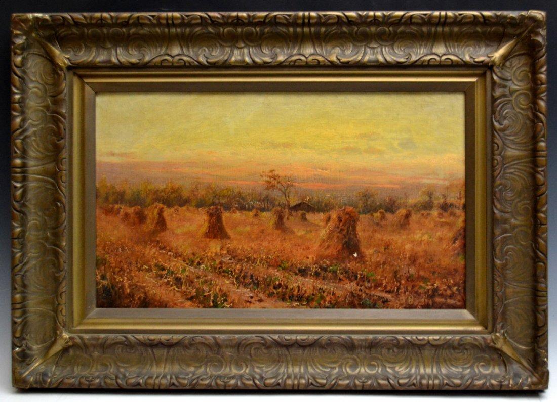 O/C 'Harvest Landscape' by Henry Hulsmann - 2