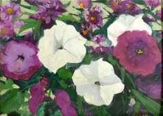 "O/B ""Petunias"" by Jane Peterson"