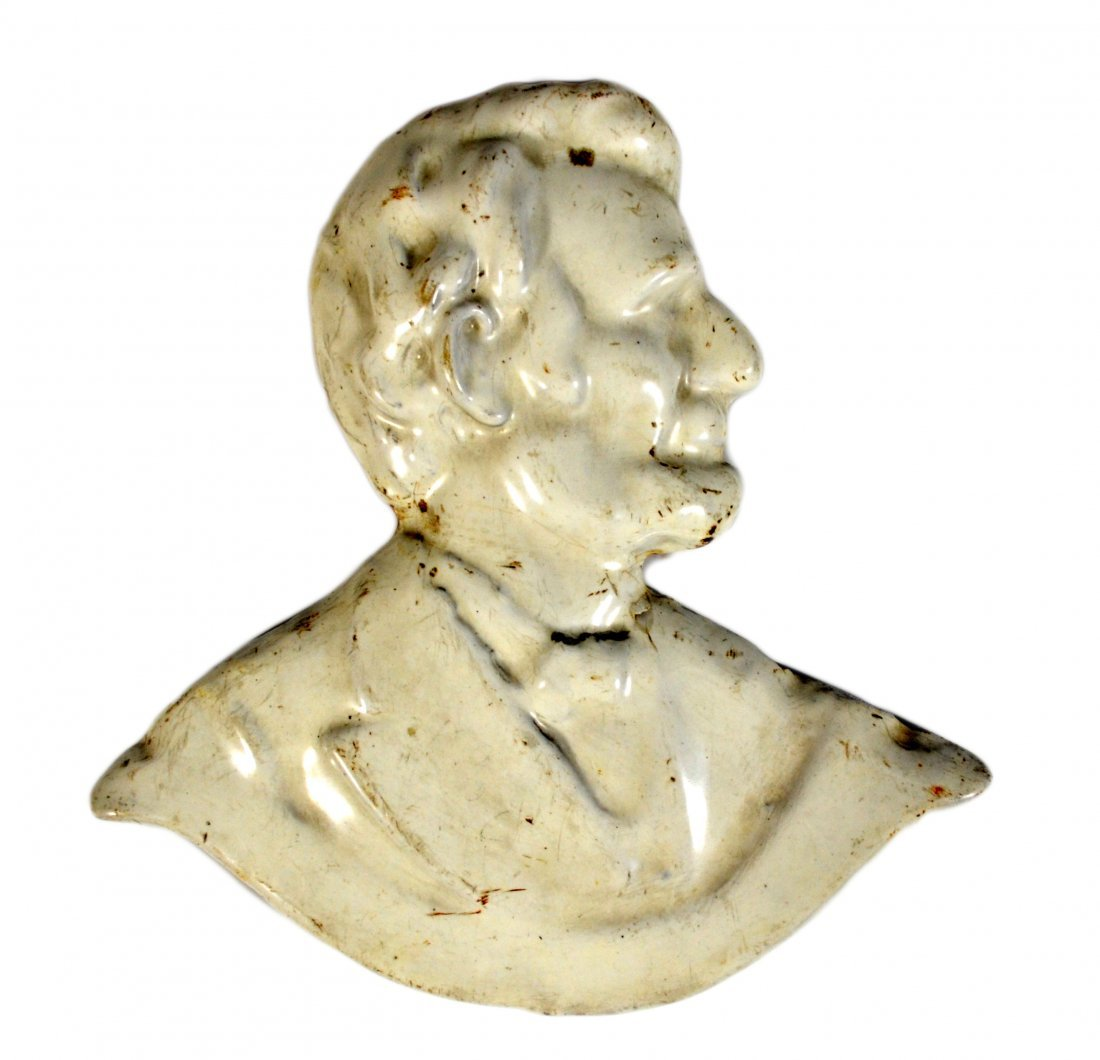 Plaque, Abraham Lincoln, Cast Iron