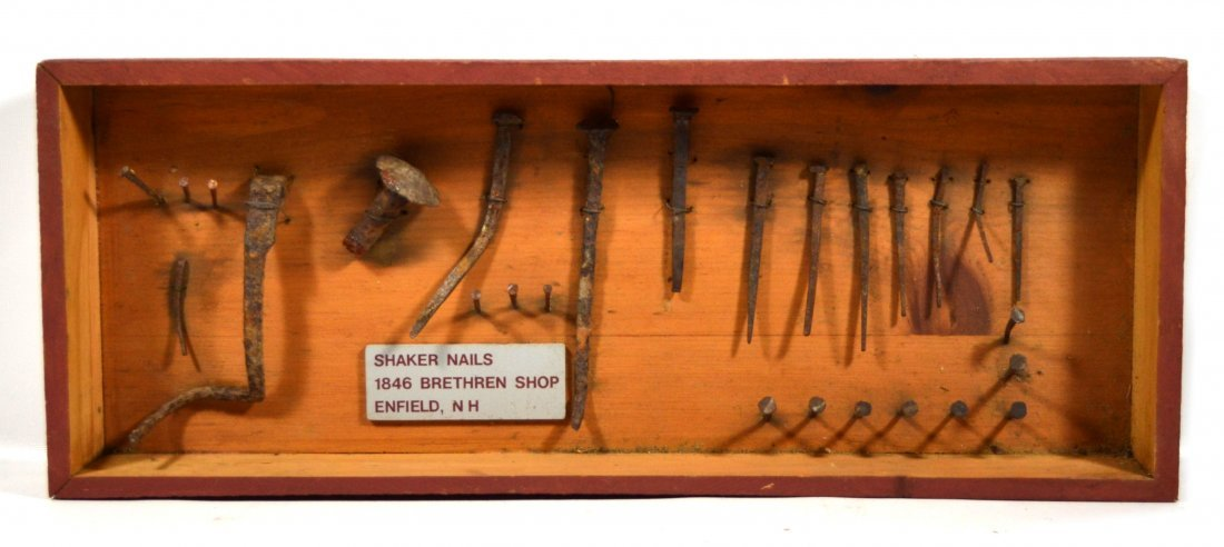 Collection of 27 Shaker Nails, 1846