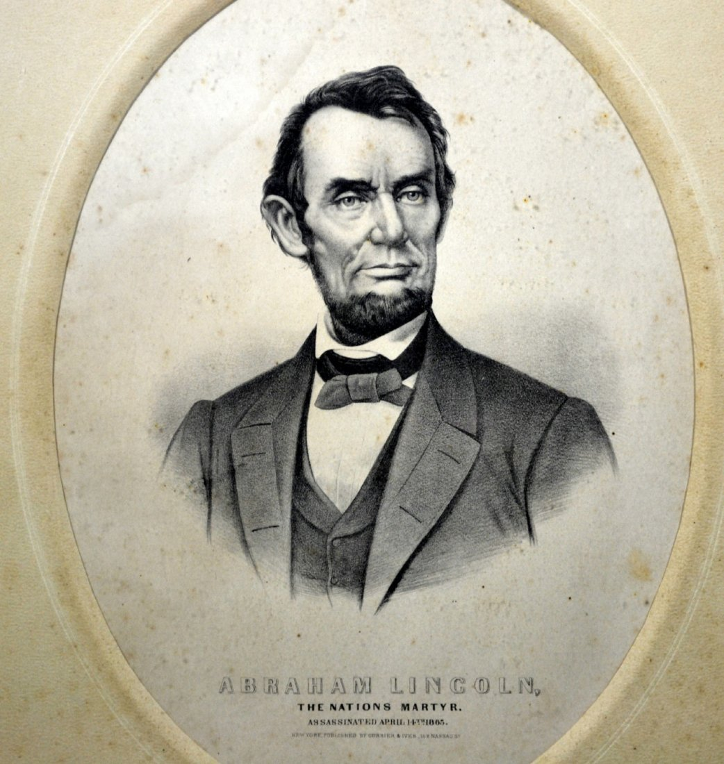 """Lithograph, """"Abraham Lincoln The Nation's Martyr"""""""