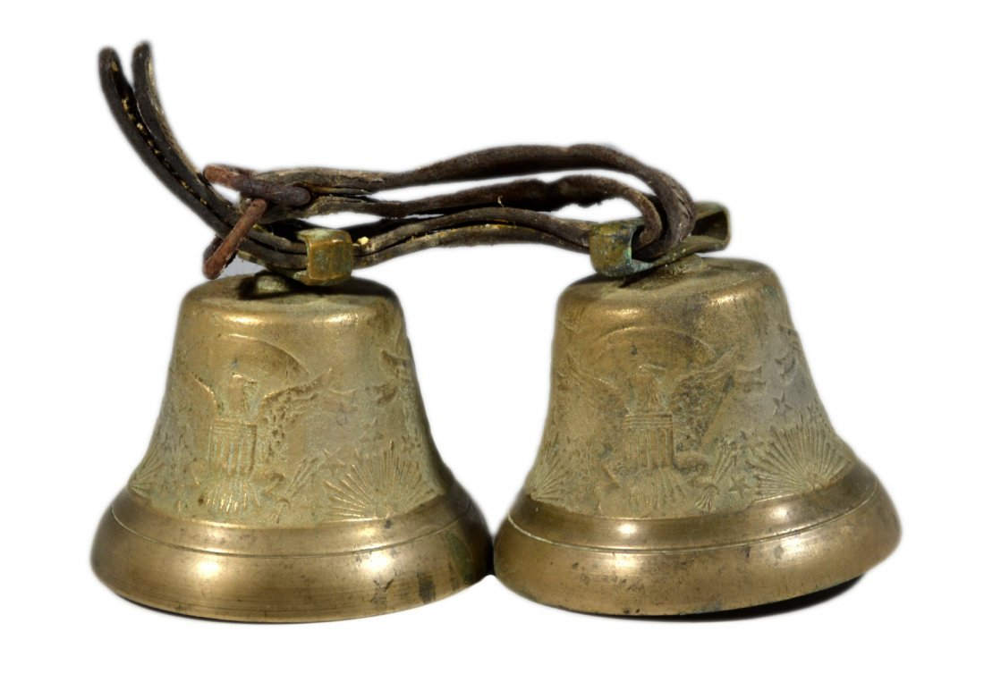 Pair of Brass Bells, U.S. Camel Corps
