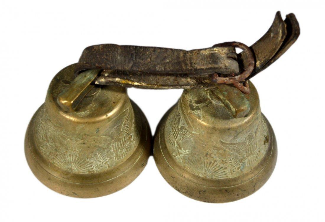 Pair of Brass Bells, U.S. Camel Corps - 3