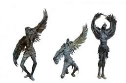 (3) Bronzes, Native Americans by Gib Singleton