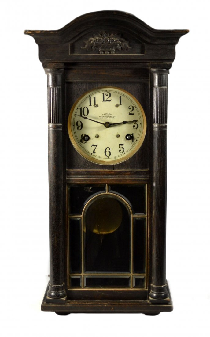 Wall Clock, Simplex Time Recorder Co.