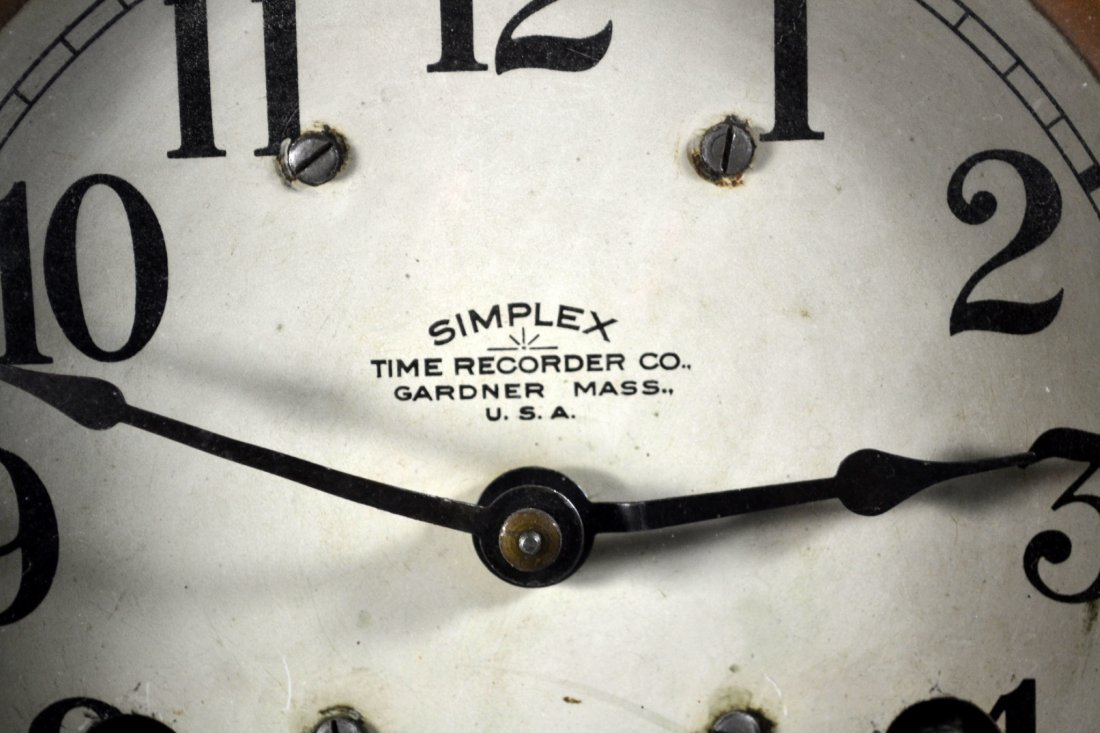 Wall Clock, Simplex Time Recorder Co. - 2