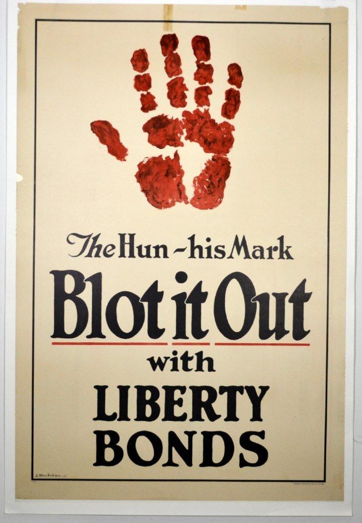 WWI The Hun His Mark, Blot It Out, Allen St. John