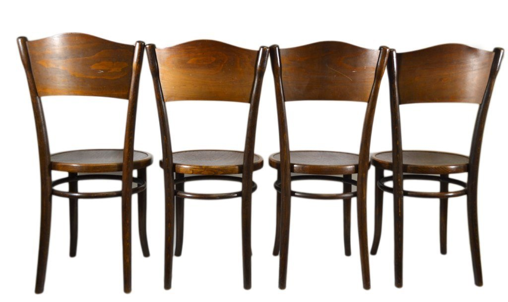 (4) Chairs by Michael Thonet, Alligator Pattern - 2