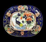 Sweetmeat Dish Ironstone, Gilded Peacock c1813-20