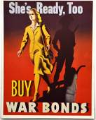 WWII She's Ready, Too - Buy War Bonds