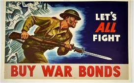 WWII Lets All Fight, Buy War Bonds
