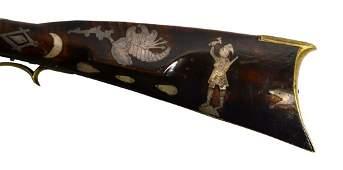 Exceptional Kentucky Rifle, J. Golcher, c. 1835