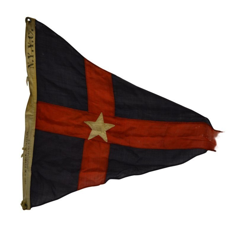 NYYC Burgee, Commodore E.M. Brown, 1895