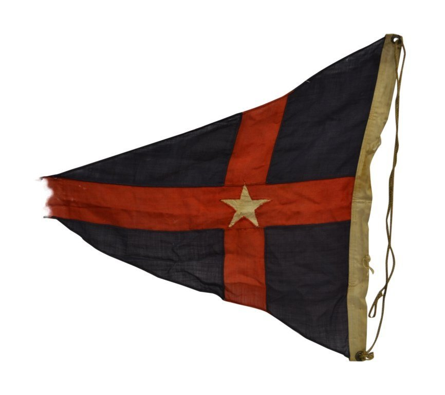 NYYC Burgee, Commodore E.M. Brown, 1895 - 5