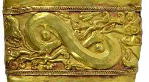Scabbard Cover, Gold, Scythian 5th c. BCE