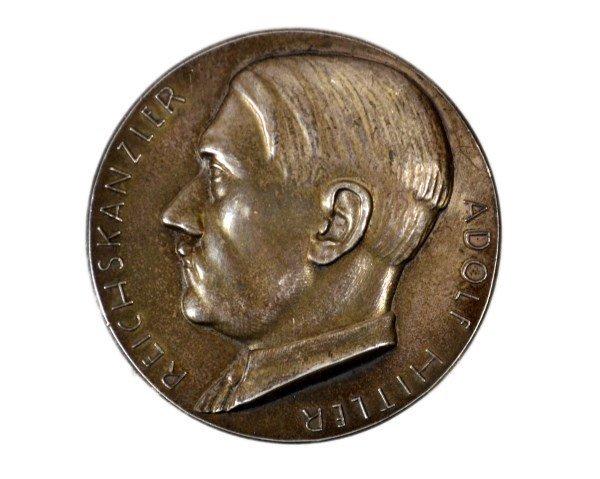 Medal, Adolf Hitler, German, Silver