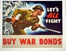 WWII Let's All Fight Buy War Bonds