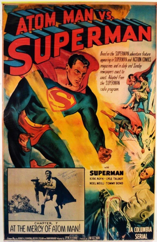 "Movie Poster, ""Atom Man vs. Superman"" 1950"