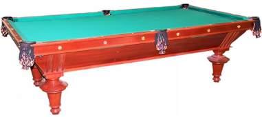 Billiard Table, Mahogany, Late 19th C., Restored