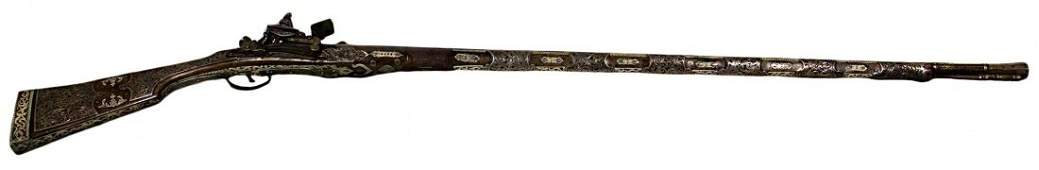 Siege Musket, ivory and silver, c. 1800, Ottoman