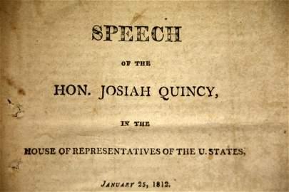 Speech by Josiah Quincy, 1812, 1st edition
