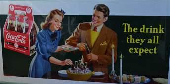 Advertising, Coca-Cola Chromolith c. 1950