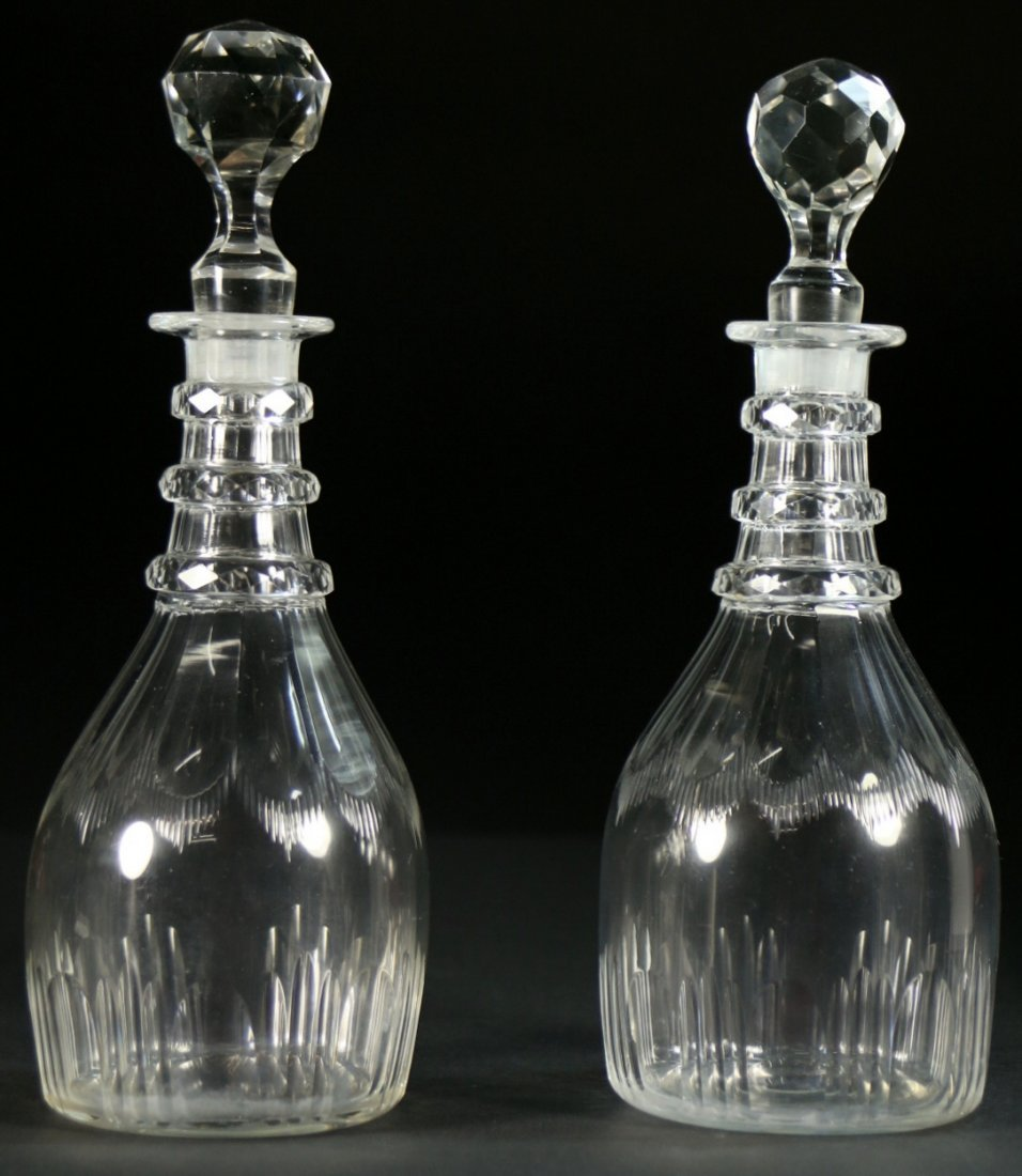 Pr. of Decanters, Hawkes Cut Crystal, c. 1890