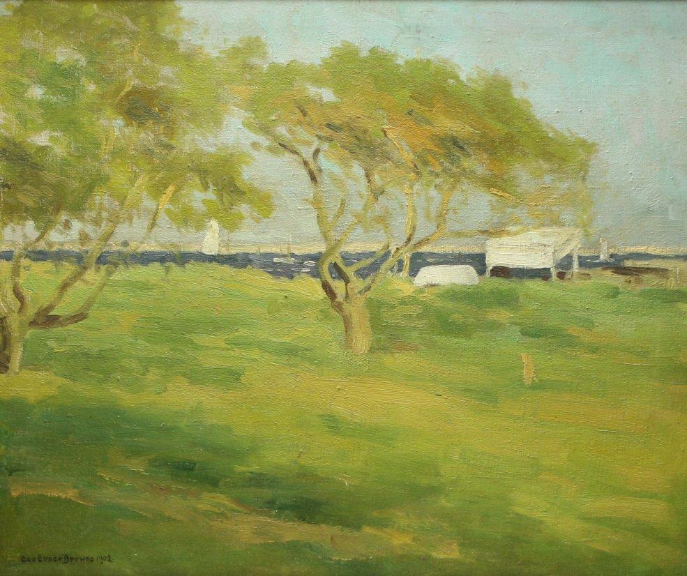 O/C G.E. Browne, Landscape, Newcomb Macklin