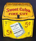 Tobacco Tin Yellow and Red Sweet Cuba