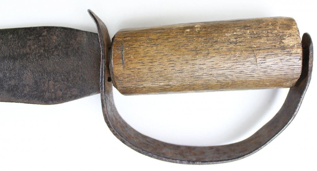 D-guard Bowie Knife, Wood Grip