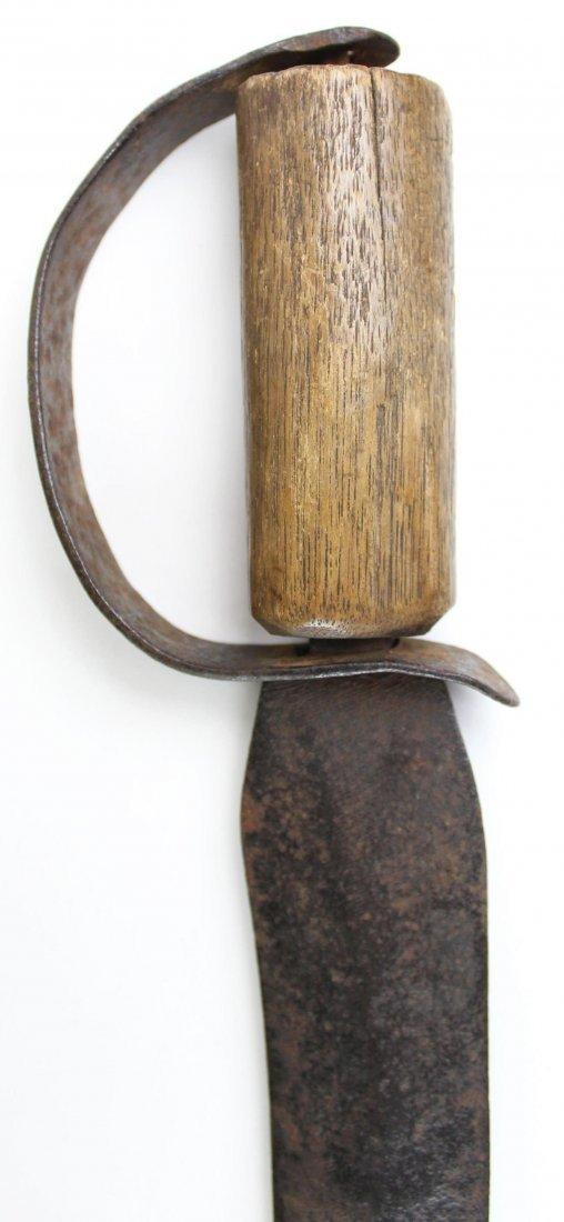 D-guard Bowie Knife, Wood Grip - 4