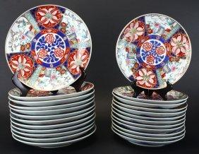 (24) Imari Porcelain Plates, 19th Century