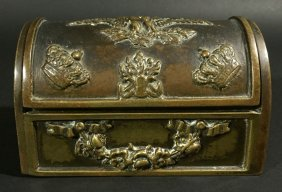 Bronze Box, American Eagle, Domed Lid