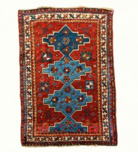 Prayer Rug, Kazak, Nomadic, 66 X 41""