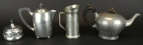 Pewter, 4 Pieces, C.1860 & 1920's