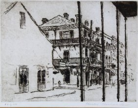 Etchings (2) New Orleans, Pencil Signed
