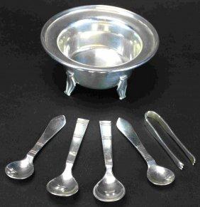 (6)pcs Theodore B Starr Inc Sterling Silver, Dmk