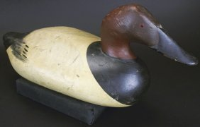 Decoy, R. Madison Mitchell Canvas Back Duck, 1948