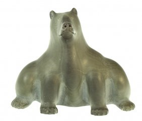 Intuit Eskimo Stone Carving Of Bear