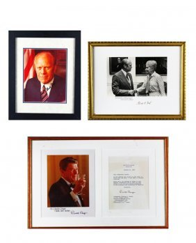 Autographs, Political, Nixon, Reagan, And Ford