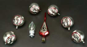 Christmas Ornaments (7), Ss/swastika Decorated