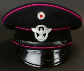 Nazi Fire Protection Police Em/nco Visor Cap