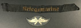 Nazi Airforce Air Crew Patch & Navy Cap Talley