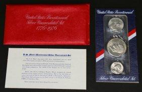 U S Mint Bicentennial Silver Set, Uncirculated