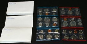 (9) Sets Uncirculated Proof Coins